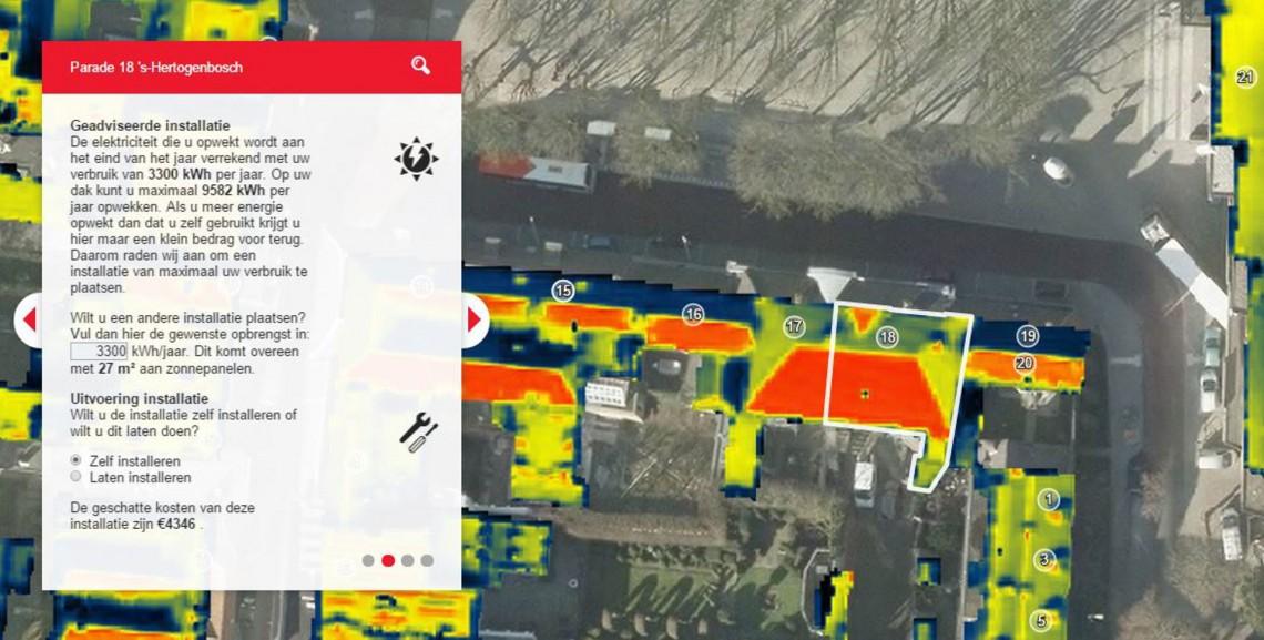 Detailinformatie zonnepanelen